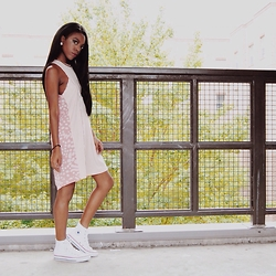 Taylor Freeman - Adidas Shift Dress, Converse Shoes - PRETTY IN PINK