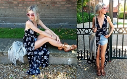 Joanna L - Zara Gladiator Sandals, Boohoo Dress - Boho...