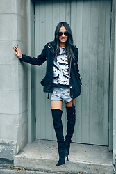 Lisa O - Topshop Jacket, One Teaspoon Shorts, Wittner Boots, Ray Ban Sunglasses - High On Life......or thereabouts
