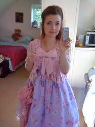 Salome Buschbacher - Angelic Pretty Pink Cardigan, Baby The Stars Shine Bright Pink Parasol - Sweetie violet