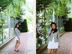 Thuy Pham - Mango Jacket, H&M Skirt, F&F Loafers - Back home