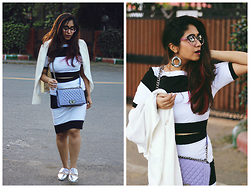 Surbhi Suri - Stalkbuylove Coords, Stalk Buy Love Skirt, Charles &Keith Shoes, Chanel Bag, Asos Blazer - Mono-Chrome Mania