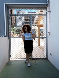 Lary Mello - Amiclubwear Pencil Skirt - Pencil Skirt & Sneakers
