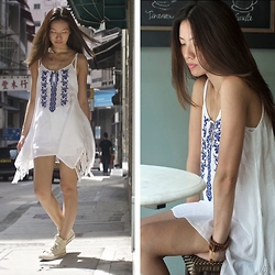 Flavia White - Forever 21 Linen White Dress - Summer time