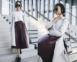 Bea G - Duster Coat, Crop Top, Skirt, Bag, Shoes - Cloudy Thoughts