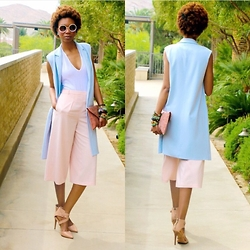 Eny K - Forever 21 Long, American Apparel Bodysuit, Forever 21 Culottes, Joe's Jeans Strappy, Topshop Sunglasses - WEDDING PASTELS