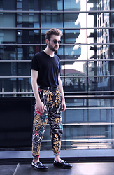 Alberto Degano - Versace Pants, Church's Shoes, Chanel Glasses, American Apparel T Shirt - 6.7