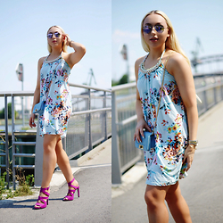 Vanessa Kandzia - Zara Sandals, Unknown Bag, Fashion Club Dress - TROPICAL SUMMER