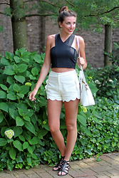Alexis Kelly - Express Crop Top, Gliks High Waisted Shorts, Kate Spade Purse, Urban Outfitters Sunnies - Monochromatic