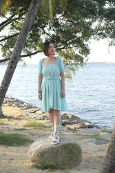 Prudence Yeo - Infinity Dress Styles Chiffon - Beach Event Dress Theme - Blue, Green And Aquamarine