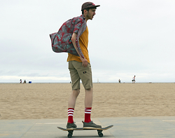 David Whitfield - Supreme Tweed S/S12 Camp Cap, Stüssy Palm Shirt, Carhartt T Shirt, Dickies Work Short, American Apparel Hockey Socks, Dr. Martens Dr X Stussy Hambleton Ii, Supreme X Yankees 2015 Skateboard - B O A R D W A L K