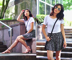 Cleo - Zooshoo Sandals, Forever 21 Skater Dress, Forever 21 White Crop Top - Summer Lovin'