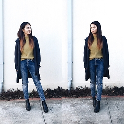 Nloua - Boohoo Lia Chelsea Chunky Boots, Asos Ripped Denim Highwaisted Jeans - Denim on winter.