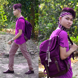 Thomas Erdyka Pragana - H&M Purple, Fred Perry Purple, Zara Purple Chino - The Purple Warrior