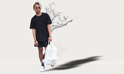 Paul Zedrich - Urban Outfitters Long Line Tee, Alexander Wang Aw Gym Shorts - Water It Down