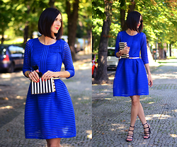 Daisyline . - Zara Sandals, Romwe Dress - Blue dress / www.daisyline.pl