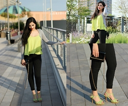 Gilda - All Outfit Details Linked On My Blog - Sunshine with grass-green