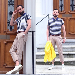 David Fernandez - Gant Polo, Gant Belt, Alfex Watch, Zara Trousers, Gant Vest, Adidas Sneakers, Ray Ban Glasses - STRIPES