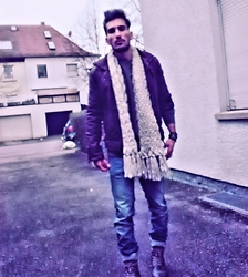 Mildan Soner - Bershka Twisted Jeans, Asos Winter Scarf, Mustang Military Boots - Bye bye winter