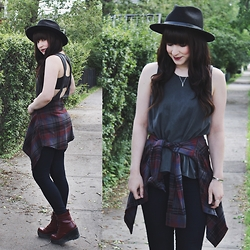 Jocelyn Jacobson - Volcom Plaid Shirt, Brixton Messer Hat, Shellys London Boots - Best Look Lately