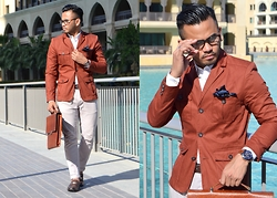 Paul Ramos - Guess? Iconic Guess, H&M Structured Jacket, Tom Ford Eyeglasses, Tommy Hilfiger Loafers, Kaizer Croc Menvelope - DUBAI DYNAMICS