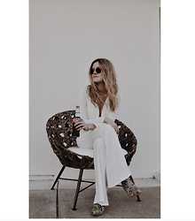 Kirby C - Stone Cold Fox Jumpsuit, Free People Boots, Ray Ban Sunglasses - White Light