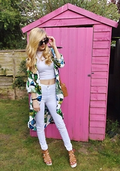 Isobel Thomas - Primark Duster Coat - Tropical Whites