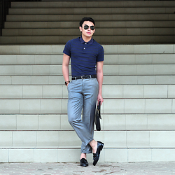 JANVIE TIU - Gap Polo Shirt, Kenneth Cole Watch, Ray Ban Aviators, Uberto Duranti Slacks - Corporate Tuesdays