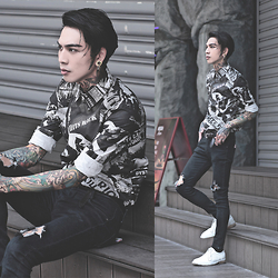 IVAN Chang - Overkillinc Shirt, Asos Skinnyjeans - 150715 TODAY STYLE