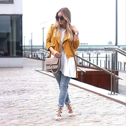 Fashiontwinstinct - Missguided Suede Jacket, Ftw The Shop Cross Body Bag, Gang Boyfriend Jeans, Public Desire Lace Up Sandals - This Suede Jacket Though.