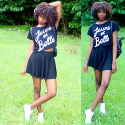 Fatuma K - Top, Skirt, Shoes - Jeune et Belle