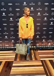 Johnnylouis DB - H&M Sweater, Christian Dior Technologic, Céline Luggage Bag, Christian Louboutin Rollerboys - Amsterdam Fashionweek