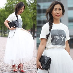 Lily T - Boohoo White Tutu Skirt - AMSTERDAM FASHION WEEK