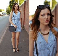 Sabina Holeczy - New Look Dress, New Look Shoes - Denim dress