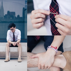 Chris Nicholas - Pocket Square Clothing The Roosevelt, Harrison Blake Apparel Anchor Tie Bar, Cole Haan Suede, Enzo Kay Anchor Bracelet - 145