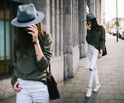 Bea G - Sweater, Jeans, Bag, Hat - Cashmere Summer