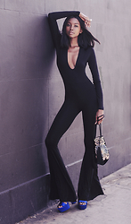 Natasha N - Unitard, Bucket Bag, Platforms - Black is Beautiful