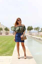 A TRENDY LIFE - Oxygene Top, Asos Falda, Chanel Bolso, A Trendy Life By Eguzkilore Joyas, Michael Kors Via Sarenza Sandalias - Off shoulder top & denim skirt