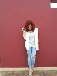 Lary Mello - Rag & Bone Jeans, Ami Clubwear Shoes - The Red Wall
