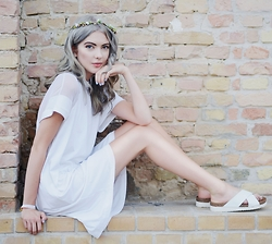 Ebba Zingmark - Pippa Lynn Dress, Eden Sandals, K Is For Kani Head Piece, Read My Article At Two For Fashion - GREY