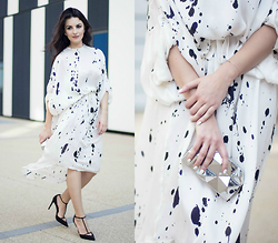 Edisa Shahini - Zara Shoes, Zara Clutch, Gon Dress - SILKY WAY