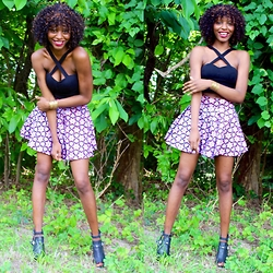 Fatuma K - Guess? Shoes, Sheinside Crop - Purple Bliss