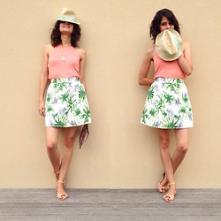 Anaïs Bon Cheap Bon Genre - Primark Tricot, Ma Garderobe Shop Palm Trees Skirt - Summer Palm trees