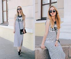 Anna Pogribnyak - Oasap Maxi Dress, Dressgal Sunglasses, Dressgal Necklace - When life gives you lemons, grab some tequila and salt