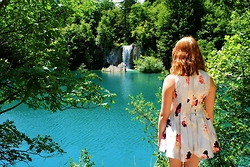 Elle Kirsten - Keepsake The Label Another Day Playsuit In Silver - Plitvice Lakes National Park