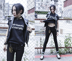 Louis Liao - Unholy Lab Brass Knuckle, Taki T, Taki Skinny Denim, Queencity Creepers - Hell Detective.
