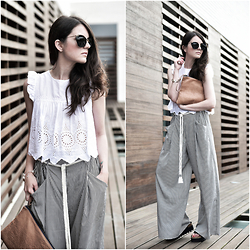 Laura Views - Zara Pants, Miu Sunnies - Palazzo Pants