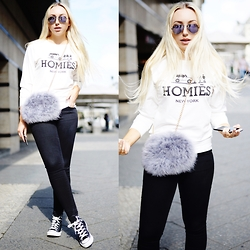 Vanessa Kandzia - Converse Shoes, Style Moi Sweater - HEY, HOMIÉS