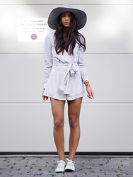 Kayla Seah -  - Polka Dot Playsuit