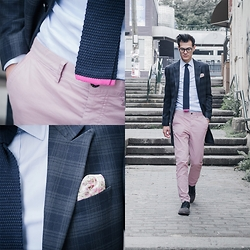 Chris Nicholas - Knit Tie, Topman Jacket, Pocket Square Clothing P, H&M Chinos, Cole Haan Saddles - 147